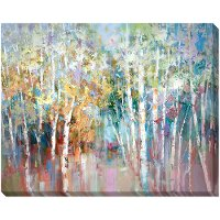 Multi Color Quakies Trees Canvas Wall Art