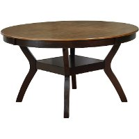 Brown 54 Inch Round Dining Room Table - Jackson