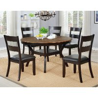 Chocolate Brown Round 7 Piece Dining Set - Jackson