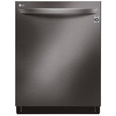 LDT6809BD LG Top Control Smart Dishwasher with Towel Bar Handle - 24 Inch Black Stainless Steel