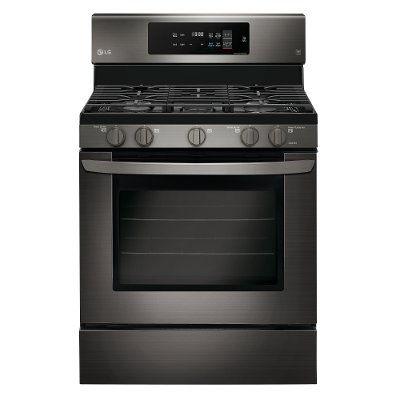 LRG3194BD LG 30 Inch Gas Range with Convection Oven - 5.4 cu. ft. Black Stainless Steel