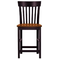 Black and Brown 24 Inch Splat Back Counter Height Stool - Arlington
