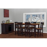 Black and Brown 5 Piece Counter Height Dining Set - Arlington