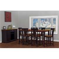 Black and Brown 5 Piece Counter Height Dining Set with Rake Back Chairs - Arlington