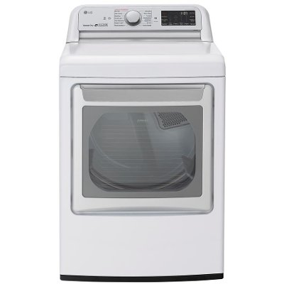 DLGX7801WE LG WiFi Gas Dryer with TurboSteam - White 7.3 cu.ft.