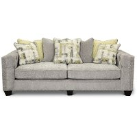 Traditional Light Gray Sofa - Caprice