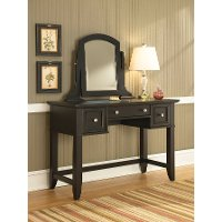 Satin Black Vanity Table - Bedford