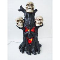 27 Inch Stump with Skulls and Flame