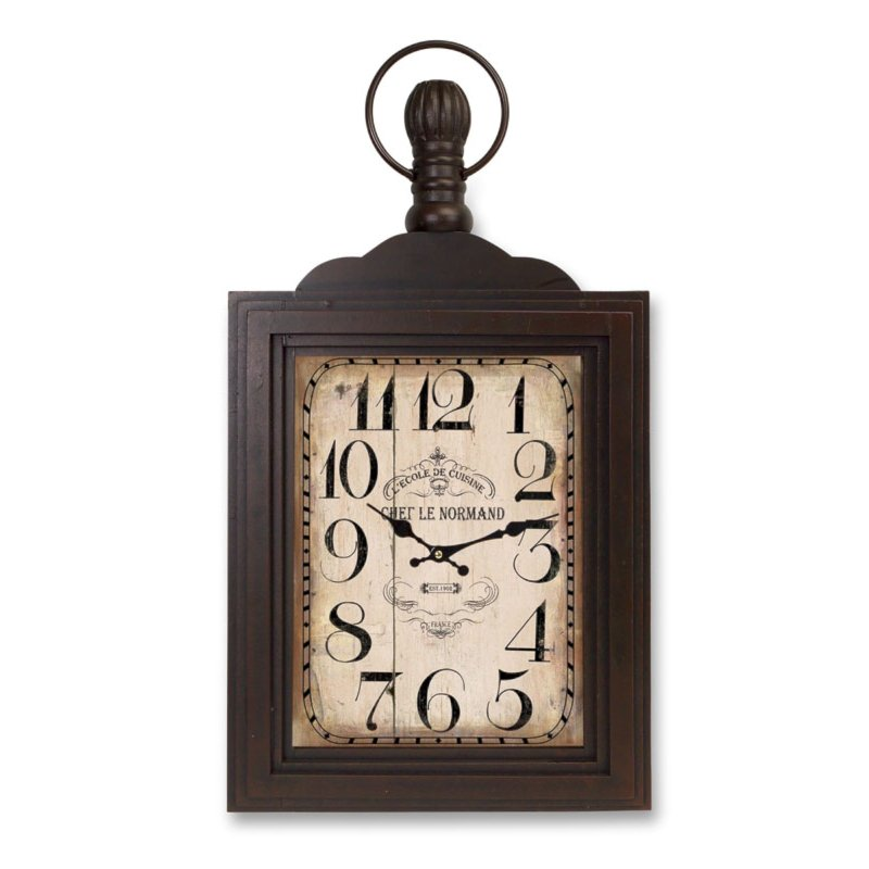29 inch wood and glass wall mount clock rcwilley image1~800