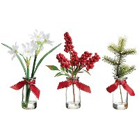 Assorted 12 Inch Winter Arrangement in a Vase