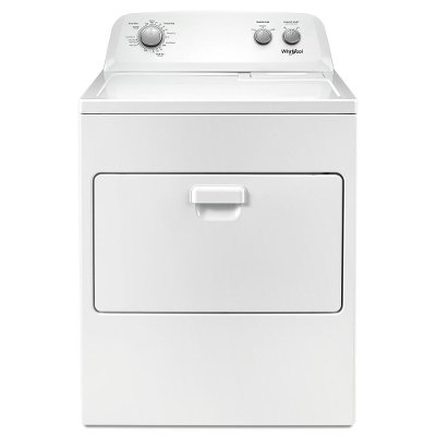 WED4850HW Whirlpool Electric Dryer with Rear Controls and 12 Cycles - 7.0 cu. ft. White