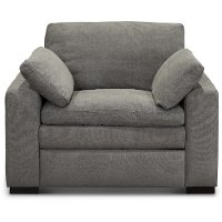 Contemporary Charcoal Gray Power Recliner - Infinity