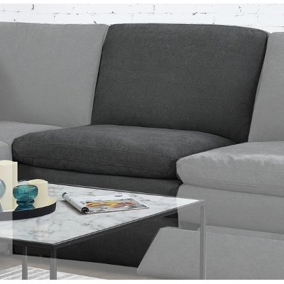 Charcoal Gray Armless Chair - Infinity