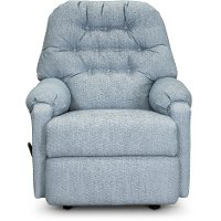 Powder Blue Manual Rocker Recliner - Sondra