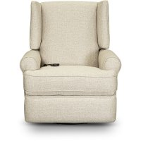 Linen Power Swivel Glider Recliner - Logan