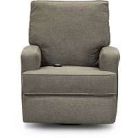 Pewter Gray Power Swivel Glider Recliner - Kersey
