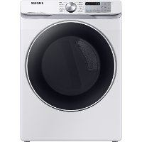 DVE45R6300W Samsung Front Control Electric Dryer with Bixby - 7.5 cu. ft. White