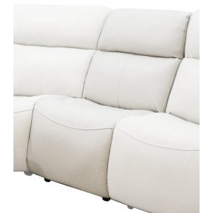 Ice White Leather-Match Armless Chair - Stratus