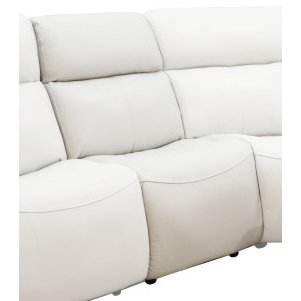 Ice White Leather-Match Armless Power Recliner with Power Headrest - Stratus