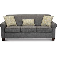 Pepper Gray Queen Sofa Bed with Visco Memory Foam Mattress - Spencer