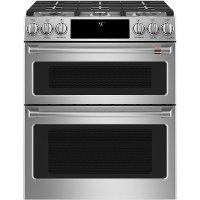 CGS750P2MS1 Cafe 30 Inch Double Oven Smart Gas Range with Convection - Stainless Steel