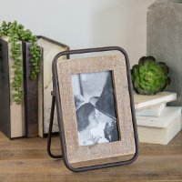 Brown Wood and Metal Picture Frame