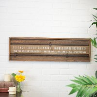 Distressed Brown Wooden Sliding Wall Calendar