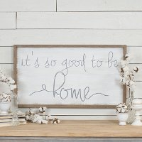 Brown, White and Black Good To Be Home Wooden Sign