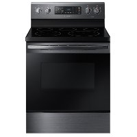 NE59R4321SG Samsung 30 Inch Electric Convection Range - 5.9 cu. ft. Black Stainless Steel
