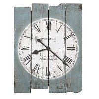 Hand Painted Antique Blue Plank Wall Clock - Mack Road