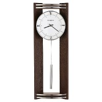 Black Coffee and Silver Contemporary Wall Clock - Deco