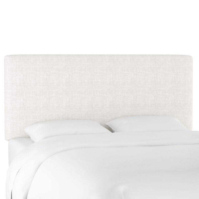 Contemporary White Twin Upholstered Headboard