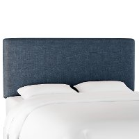 752QZMNV Contemporary Navy Blue Queen Upholstered Headboard