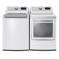 KIT LG Rear Control Electric Laundry Pair - White