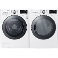 KIT LG Front Load Washer and Dryer Pair - White