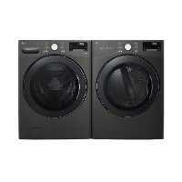 KIT LG Front Load Black Stainless Steel Laundry Pair