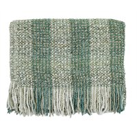 Sage Green and Cream Greenwich Throw Blanket