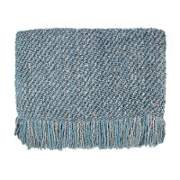 Aqua, Gray and Cream Canyon Mist Throw Blanket