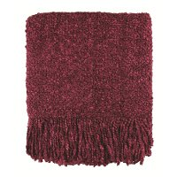 Cranberry Red Campbell Throw Blanket