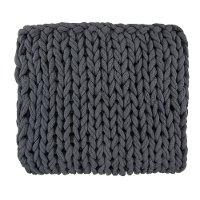 Dark Charcoal Gray Delray Throw Blanket