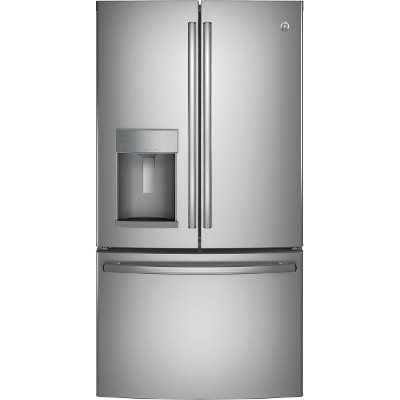 GYS22GSNSS GE Counter Depth French Door Refrigerator - 22.2 cu. ft., 36 Inch Stainless Steel