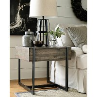 Natural Rustic End Table - Modern Timber