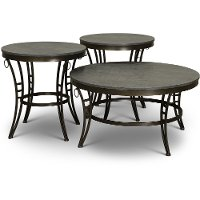 Modern Black and Gray Occasional Table Group - Emmerson