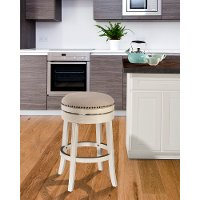 5688-826A White 26 Inch Swivel Round Counter Height Stool - Tillman