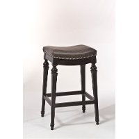5606-828 Black Backless Upholstered Counter Height Stool - Vetrina