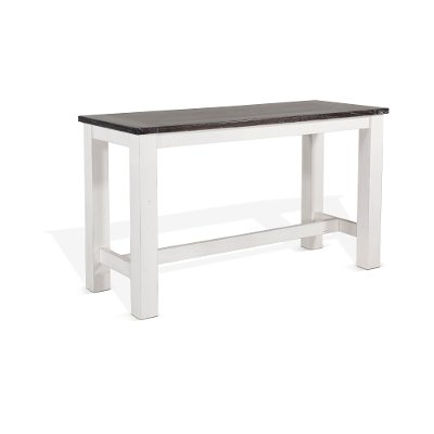 White and Brown Counter Height Dining Table - Bourbon County