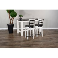 Brown and White 3 Piece Counter Height Dining Set - Bourbon County