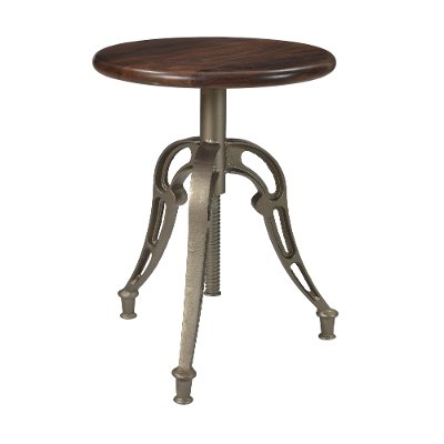 Brown and Silver Adjustable Counter Height Stool - Bristol