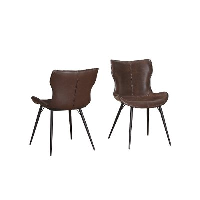 Brown Mitt Style Dining Room Chair - Maxwell