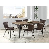 Brown 5 Piece Dining Set with Mitt Style Chair - Maxwell